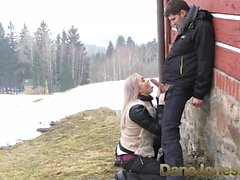 Dane Jones Deepthroat blowjob public doggystyle