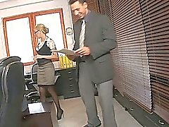 Office slut perfect blonde gets rammed
