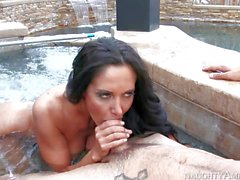 Jacuzzi fuck with dangerously sexy busty cougar Ava Addams