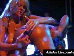 Mega Hot Milfs Julia Ann & Lisa Ann Lick Pussy In Retro Film