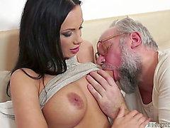 Old fart drills super sexy brunet mother i'd like to fuck Samantha Rebeka