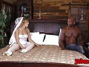 Blonde bride Zoey Monroe taking a hole massive black dick