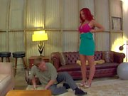 Redhead Kelly Divine makes man lick her Big Ass