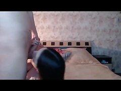 Стройный брюнетки есть большая время, работая толстый jackhamme