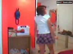 Hot Schoolgirl Strip On Webcam