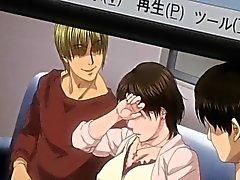 Peludas Japanese madre de Hentai gangbanged calor
