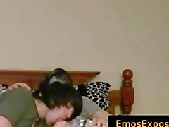Two cute young emos having gay sex on bed part4