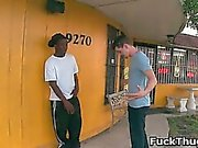 White trash gets sucked by black thug