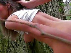 Tschechisch Mädchen Leuchtendes Gelb Sun in der Öffentlichkeit gefickt
