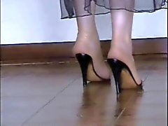 Benim Çıplak ve çorap uzun mavi Toes ! !