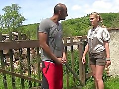 Slut gets bush pissed on