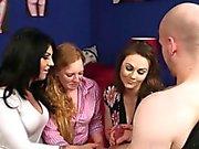 Sexy Girls Watch A Guy Masturbate
