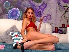 Super Hot Blonde Girl Lingerie Masturbation