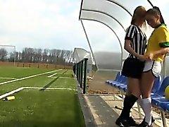 Brazilian player boning the referee