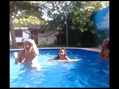 young sluts enjoy themselves at the pool