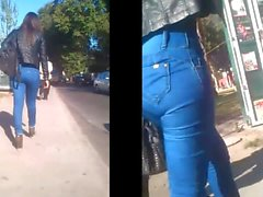 Hohe Taille Jeans große Beute Culona offenen Hüften