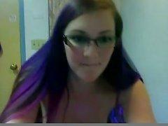horny slut teen masturbating hard on webcam