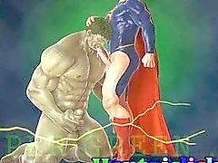Struttura muscolare del Anime omosessuale pelo scopata