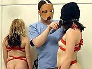 Extremely hardcore BDSM rope sex with chocolatehole action