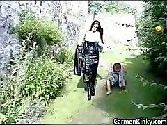 Older dude gets trained like a dog