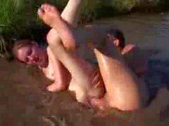 Нудистском пляже - Классик - Небольшой Тит рыжая CIM для лица