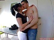 Lana French Teen Fucked in the kitchen