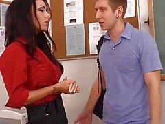 profesor del sexo peludas a Jessica Jaymes carajo en la clase de