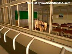 olocinema Hyouhen Bakunyuu Shinnin kyoushi 3D