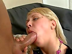 Horny guy pounds on beauty's juicy cunt vigorously