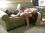 Two mature chubby woman are sharing a big black cock in threesome