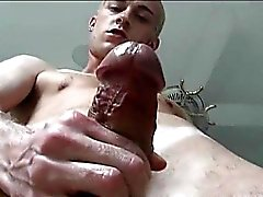 Nasty gay is half nakedhe is jerking part1