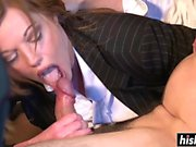 Car drilling with amazing Holly Kiss