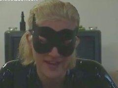 Catwoman sexy de se une queue dure