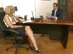 Sexy secretary Aleksa Diamond gets the bosses boner