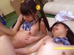 Ayu and Mimi Jav Teens Fucked In The Gym Extremely Cute Petite Schoolgirls