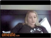 Blonde curvy girl with wet pussy - Omegle dare game