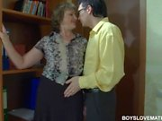 Young boss fucks his mature secretary