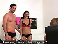 FemaleAgent Sexy Dreier mit spanischen Paar