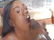 Cute black first time rides a huge cock