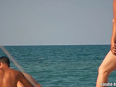 Non-Professional nudist cuties spied at the beach hidden web camera voyeur