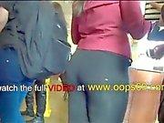 groping milf ass at store
