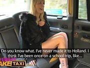Weiblich Gefälschte Taxi Geile Luder hat dampfigen Taxi Sex
