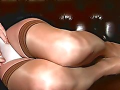 Crossdresser Carresa Cums a Negro and Tan