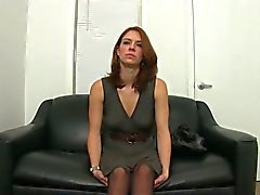 Real Porn Actress Audition in Pantyhose