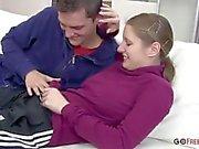 Junge Amateur russische Paar Gefangen Ficken auf Tape