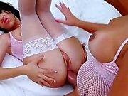 Bunny TS Fernanda sticht heißes Baby Eloa