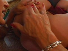 Hot strap-on masturbation