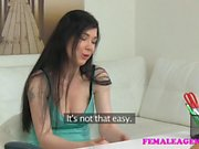 FemaleAgent Busty student has an amazing orgasm in lesbian casting session