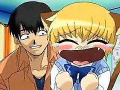 Genç Anime ve Sarışın am dildoed alır