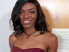 Teeny Black - Cute Black Teen Tries Porn